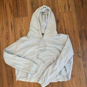 Light blue cropped hoodie